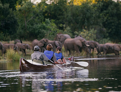Canoeing at Arusha National Park